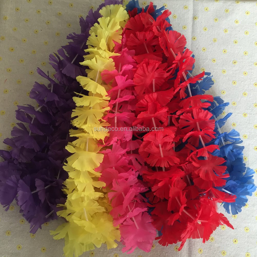 Factory hot sale plastic flower garland, wedding garland