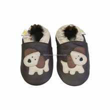 OEM style cute puppy animal PU leather infant baby boys shoes