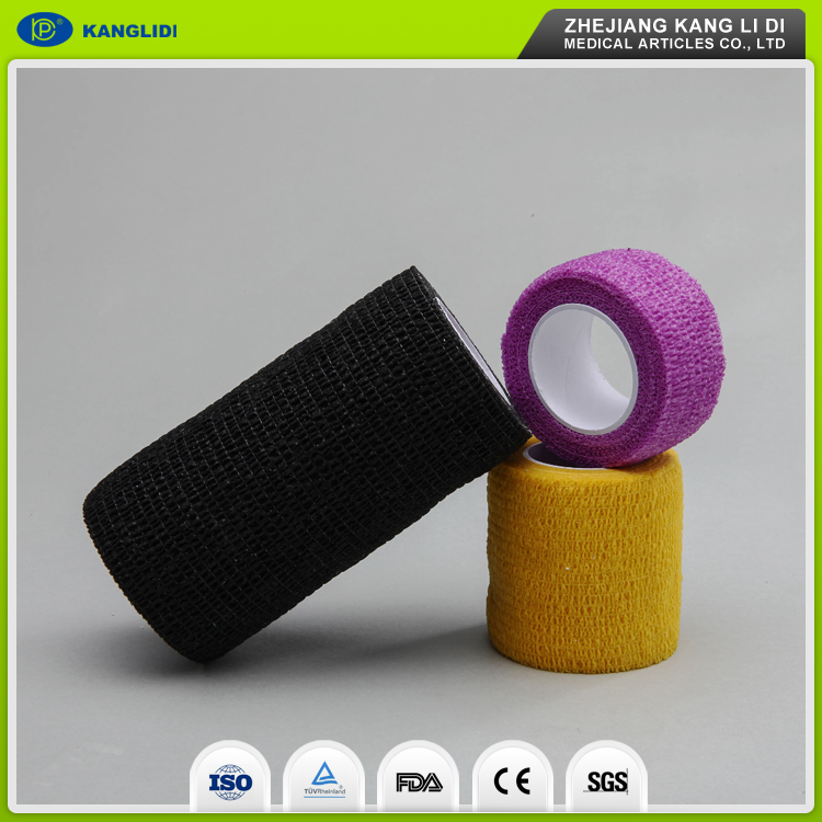 KLIDI CE FDA Certificated Non Woven Adhesive Roll Elastic Vet Wrap Bandage