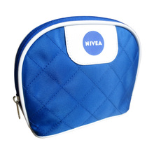 Leisure Quilted Microfiber+0.2mm PEVA Make Up Bag