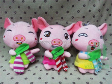 HI CE Wholesale New Style Plush Pink Pig Animal Figurine Toy For Kids