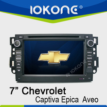 in dash 7'' car dvd player for chevroet aveo navigator with bluetooth phonebook ipod