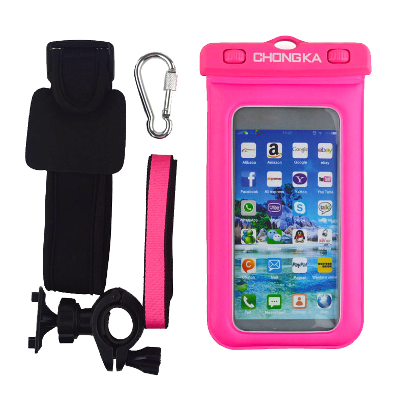 Underwater Phone Case Waterproof Phone Bag with Armband for Samsung for Iphone