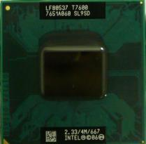 INTEL CPU SL9SD T7600 2. 33GHz 4M 667MHz PGA