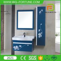 Space Saving Bathroom Cabinet with White Color Solid