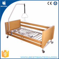 China supply BT-AE027 High quality wooden head/foot boards electric home care bed for elderly