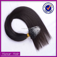 Top quality wholesale price micro ring/braid brazilian remy hair extensions