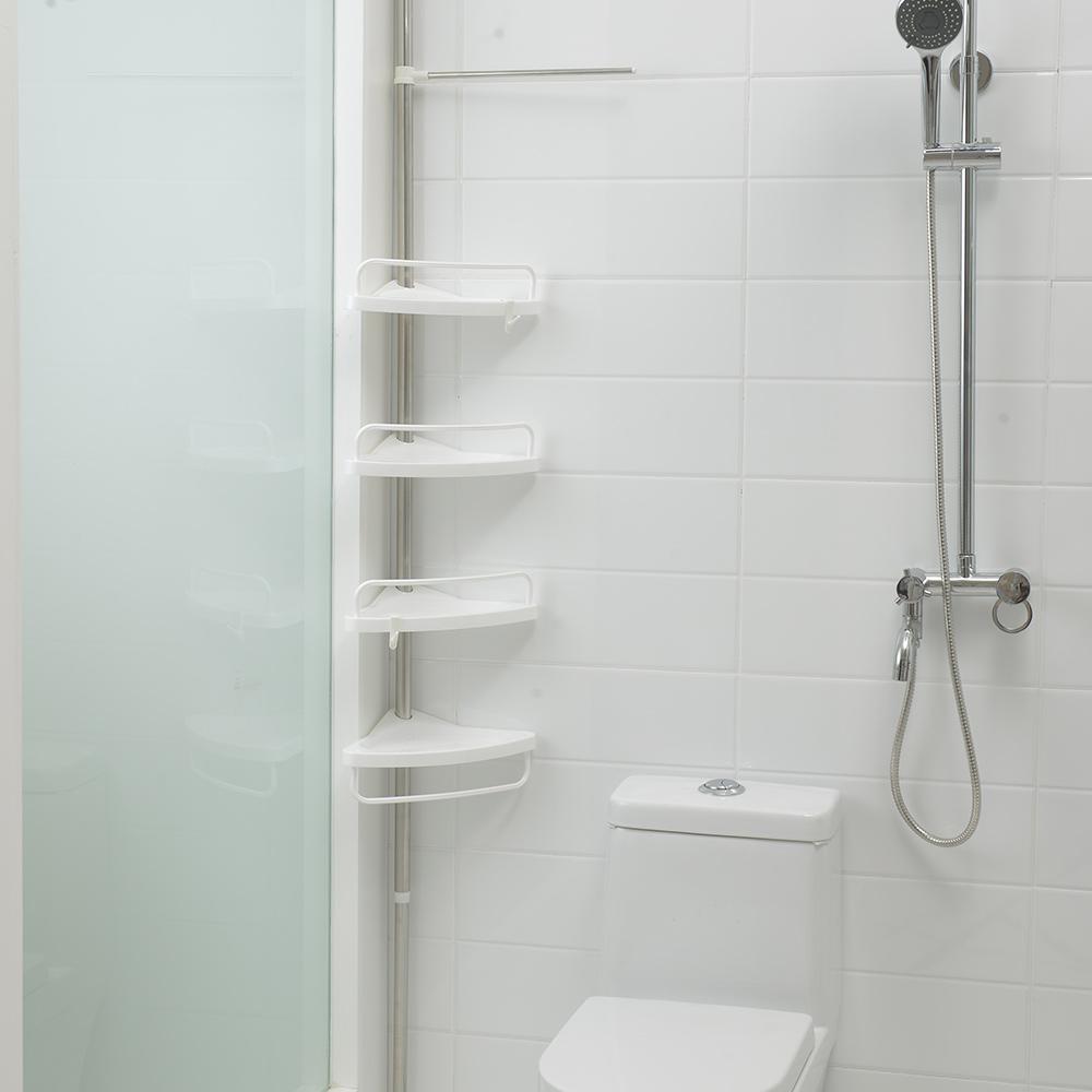 Plastic Bathroom Corner Rack With Towel Bar - Buy Bathroom Rack ...