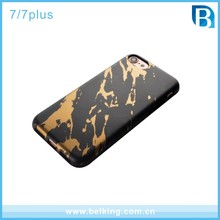Custom Gold blocking IMD Marble Mobile Phone Case for IPhone 7 TPU Matte