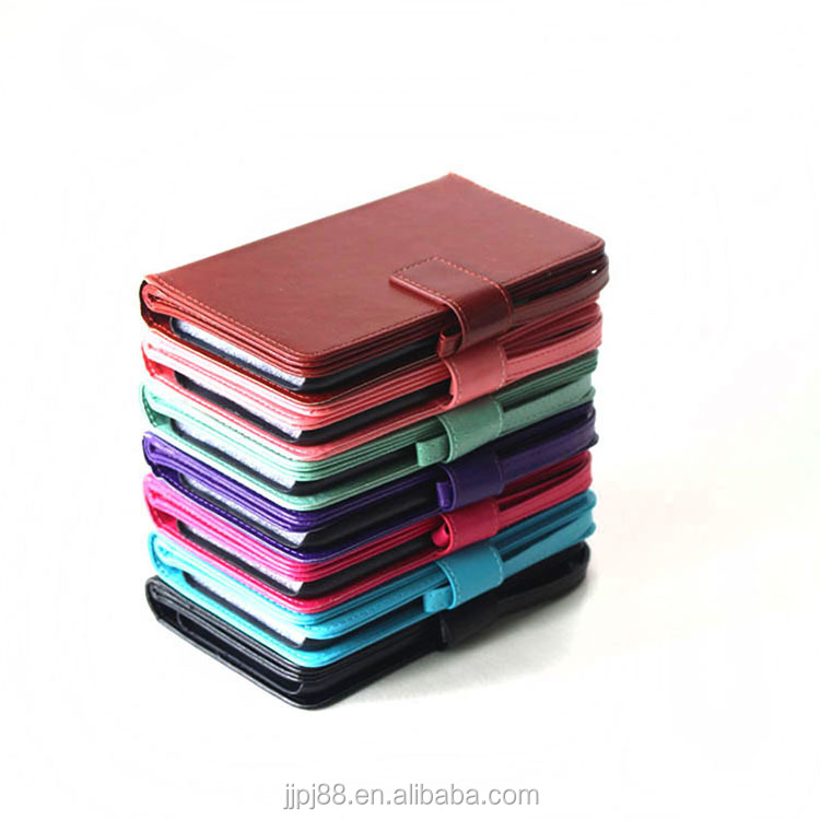 PU leather Wallet mobile phone bags for Samsung/iphone with stand flip cover