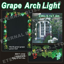 artificial grape leaves light iron garden arch