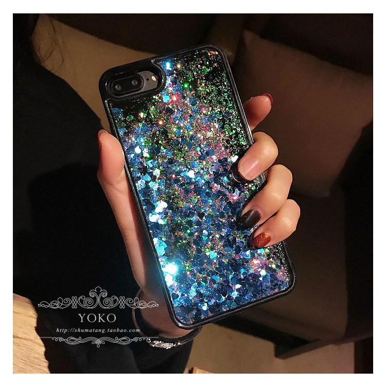 2017 custom liquid glitter phone case for iPhone 6 6s silicone bling cover for iphone6 case
