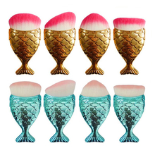 New arrival beauty makeup brush amazon hot sale mermaid makeup brush