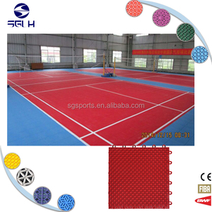Outdoor portable new type pp synthetic badminton court floor mat