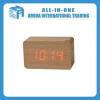 Creative contracted luminous wooden led digital clock