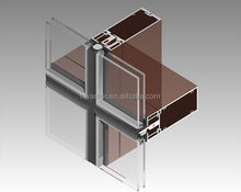 double-skin structural silicone glazing customized curtain wall system in high-quality building glass