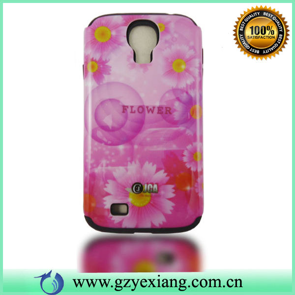 New Design Flower/Floral Printing Accessories Hard PC Cell Phone Case for Samsung S4 mini