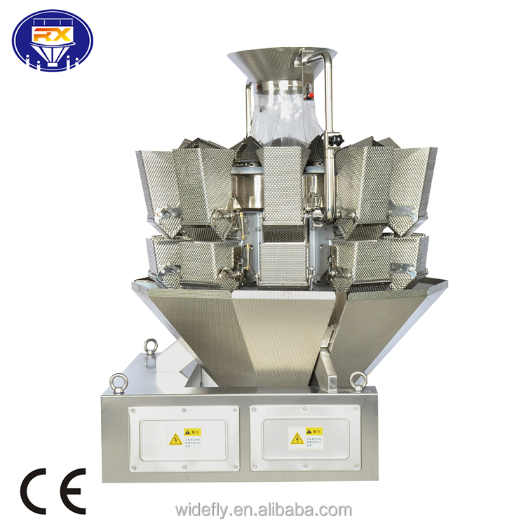 multi-function multihead weighing machine multihead weigher for packing snacks, flower tea, nuts, fish, seeds, screw, shrimp