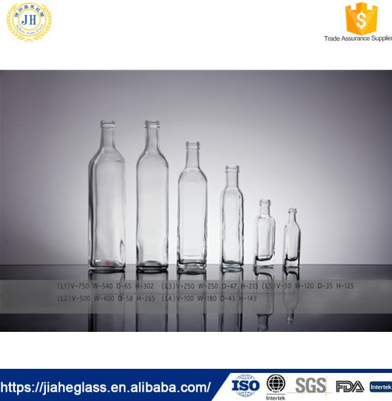 Cooking Oil Industrial Use and Glass Material glass olive oil bottles wholesale