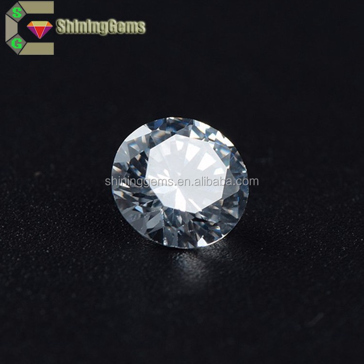 Shining Brightness 2.0mm Super White Clear Cubic Zirconia CZ Lab Created Diamonds