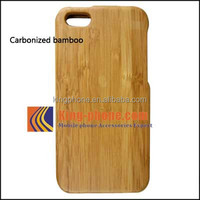 LOWER !!!!! IN STOCK mobile phone accessories carbonized bamboo Handmade Wood Cover Case for iPhone 5c