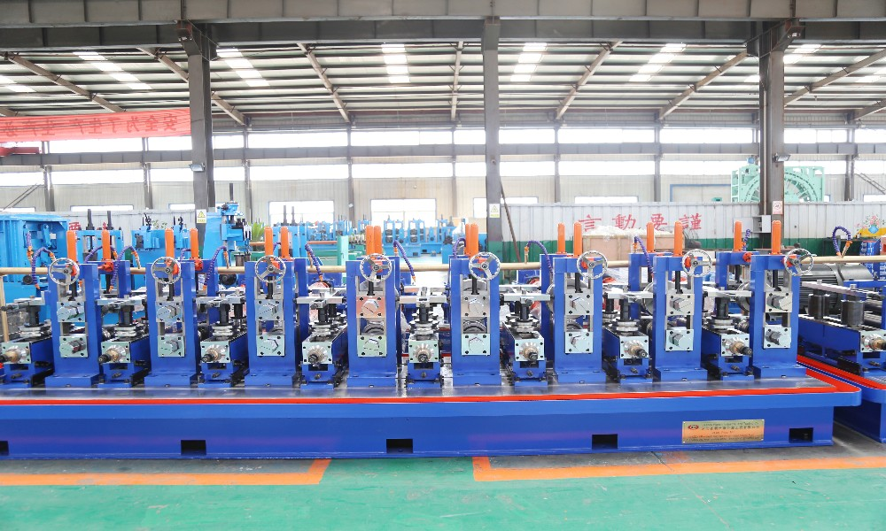 HF tube production line welded erw pipe making machine/building material machinery