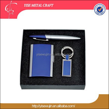 New products 2016 innovative products metal business gift set Office gift set Christmas gift set with pen card holder key chain