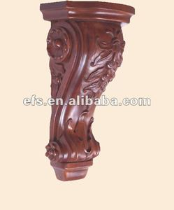 Durable exquisite decorative wood carved corbel,wall accessories,cabinet accessories