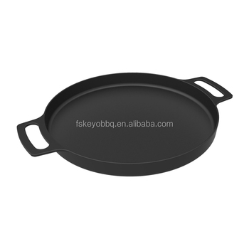 KEYO China factory cast iron Round Shaped bbq grill plate bbq grill pan