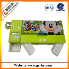 Wholesaler pencil box factory cartoon magnetic plastic pencil boxes for school