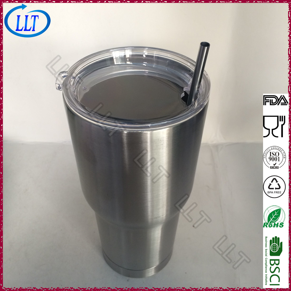 wholesale double wall vacuum Stainless Steel tumbler 30oz straw tumbler