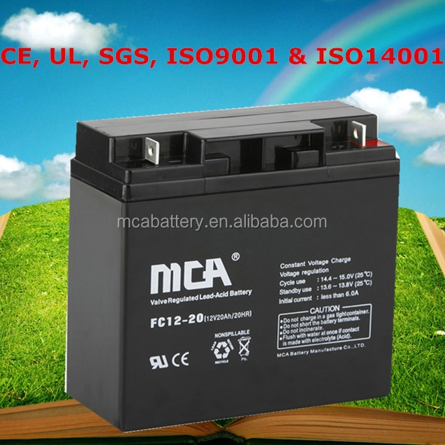 Reliable Quality 12V 20Ah E-Bike Lead Acid Battery 24 Volt Lead Acid Battery Lead-Acid Battery