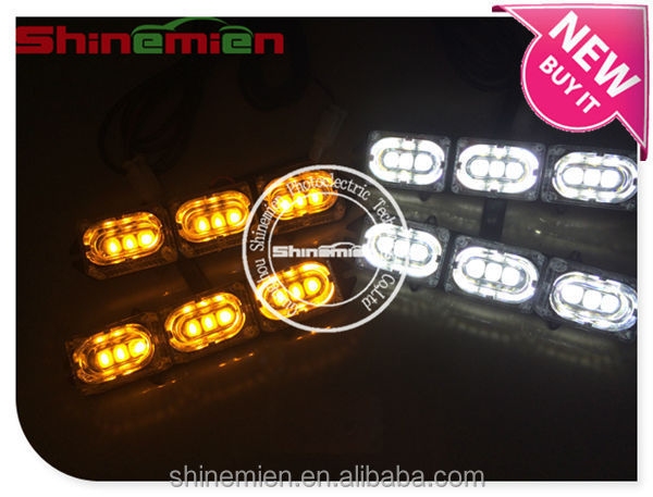 LED Amber White Car Van Truck Strobe Flash Flashing Warning Hazard Dash Light Grille Emergency Wireless remote control