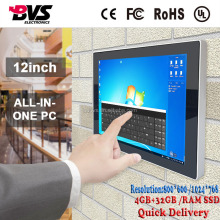 15.6 inch i3/ i5/ i7 core touch screen AIO PC 4+128GB