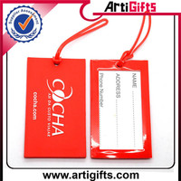 Promotional products rubber luggage tag for airlines