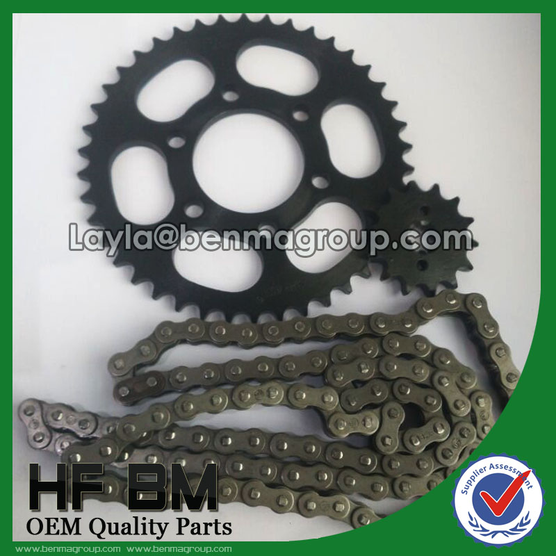 BAJAJ BOXER CT100 42T/14T Motorcycle Black Sprocket Kit With 428 Chains