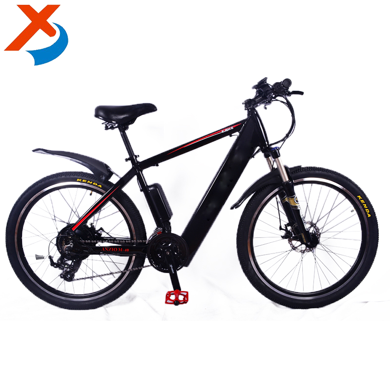 26 inch 250W-500W 36V10Ah hidden battery electric mountain bike no folding with aluminum frame