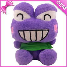 20cm Sitting Soft Plush Purple Frog, Frog Stuffed Animal, Stuffed Doll Frog Toys