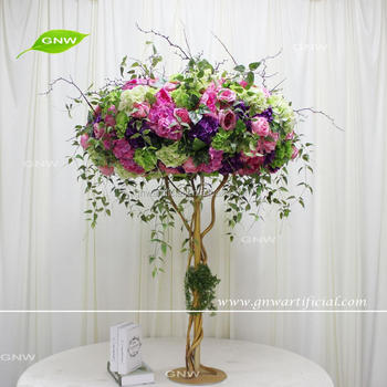 GNW CTRA17050002-AHigh Crystal Rose and Hydrangea With leaves Wedding Centerpieces for table on sale