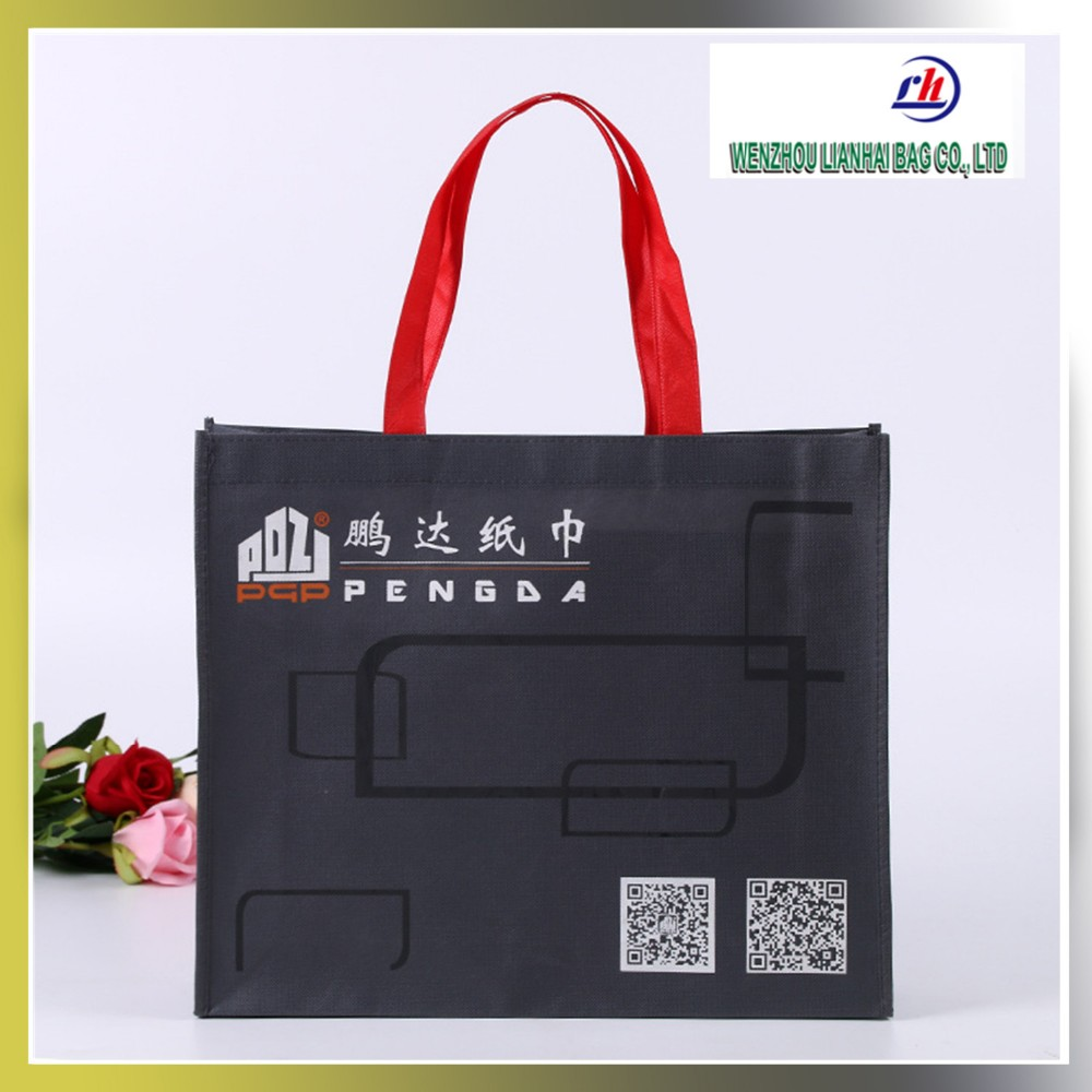 Custom tote bag Silk screen printing non woven handbag for shopping and promotion