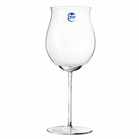 Handmade 1000ml Tulip Shaped customized crystal red wine glass