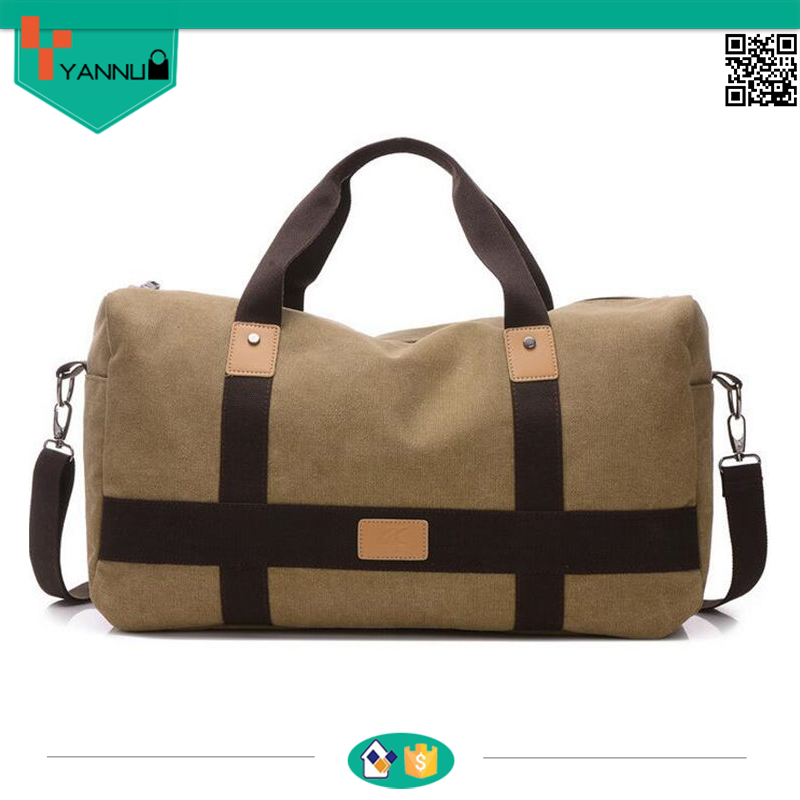 high quality fashion large canvas travel bag duffle weekend best travel bag men
