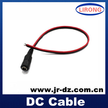 30cm 5.5*2.1mm flat type 22AWG dc cable plug for CCTV