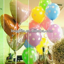 high quality polka dots printed latex balloon for party decoration with 13 colors available