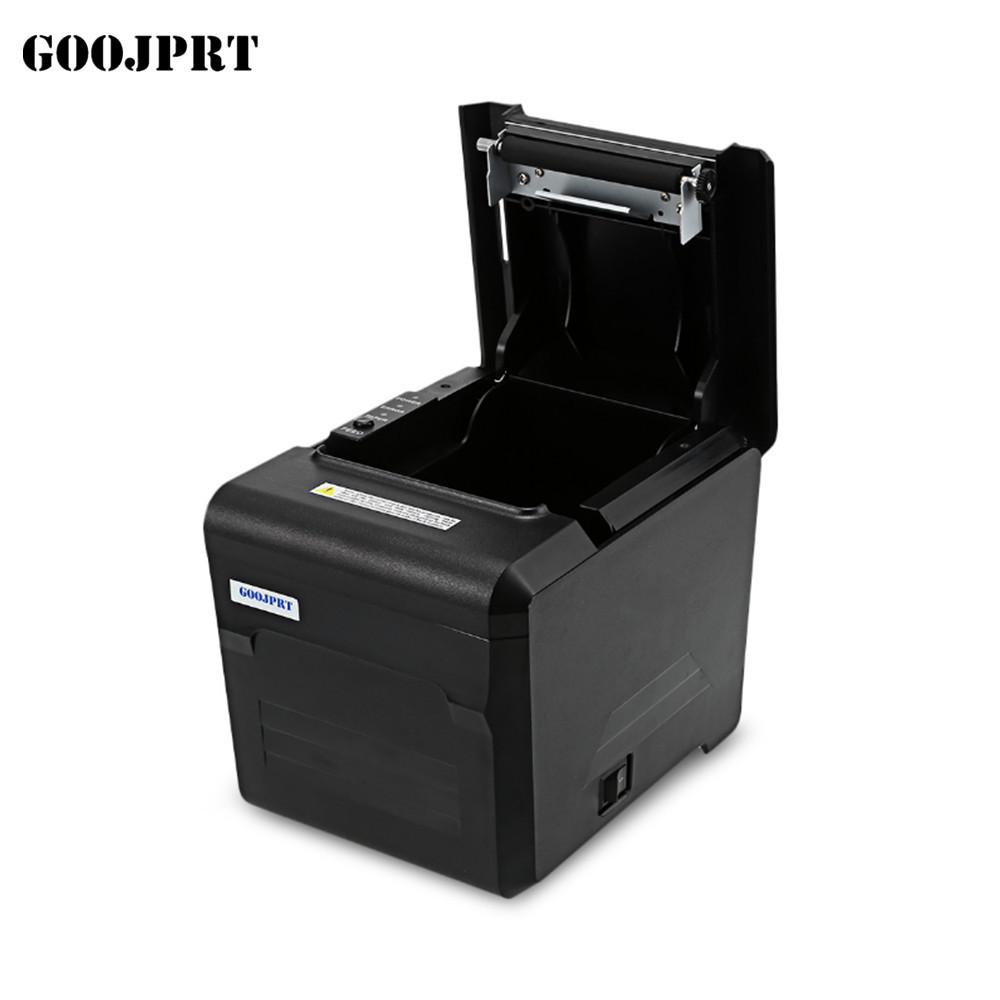 POS system 80 mm thermal printer with auto cutter for USB LAN WIFI interface