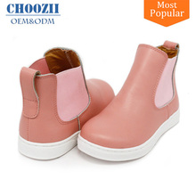 Manufacture High Quality Fashion Leather High Cut Flat Shoes for Girls