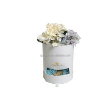 wholesale luxury custom printed cylinder round hat gift flower box with drawer
