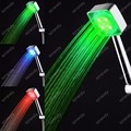 LD8008-C4 RGB Square Bathroom Faucet Accessory LED shower room