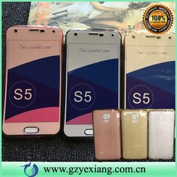 ultra thin full body mobile phone case for samsung s5 tpu case front and back protective cover for galaxy s5