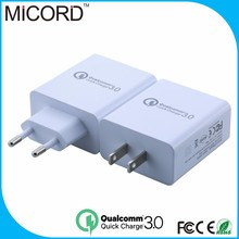 Hot sale Qualcomm Quick Charger 3.0 2 ports USB Wall Charger QC3.0 Travel charger for Samsung